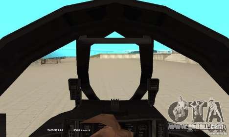 F14W Super Weirdest Tomcat Skin 1 for GTA San Andreas back view