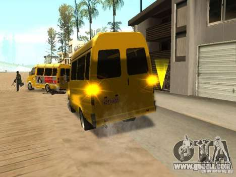 Gazelle 2705 taxi for GTA San Andreas back left view