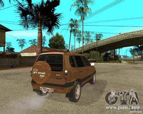 CHEVROLET NIVA Version 2.0 for GTA San Andreas back left view