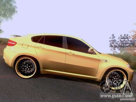 BMW X6M Hamann for GTA San Andreas back view