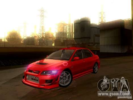 Mitsubishi Lancer Evolution VIII Full Tunable for GTA San Andreas