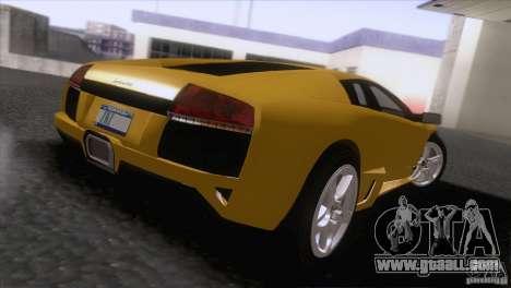 Lamborghini Murcielago LP640 2006 V1.0 for GTA San Andreas back left view