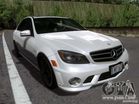 Mercedes-Benz C63 AMG 2010 for GTA San Andreas