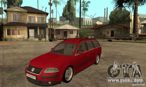 VW Passat B5+ Variant for GTA San Andreas