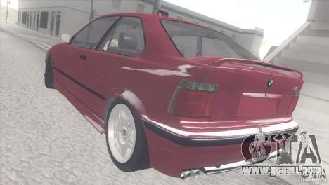 BMW e36 M3 Compact for GTA San Andreas back left view