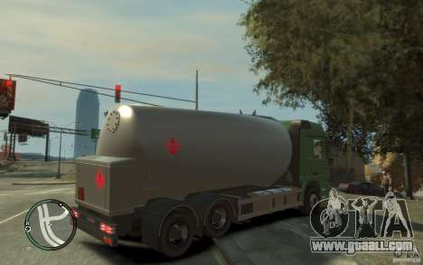 Mercedes Benz Actros Gas Tanker for GTA 4 bottom view