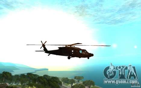 MH-60L Blackhawk for GTA San Andreas back left view