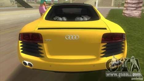 Audi R8 V10 TT Black Revel for GTA Vice City back left view