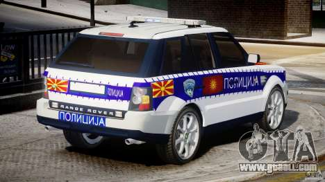 Range Rover Macedonian Police [ELS] for GTA 4 upper view