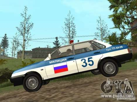VAZ 21099 DPS for GTA San Andreas left view