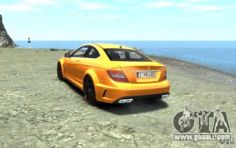 Mercedes-Benz C63 AMG 2012 for GTA 4 back left view