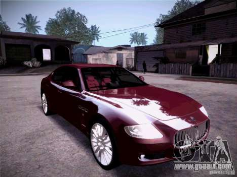 Maserati Quattroporte 2010 for GTA San Andreas upper view