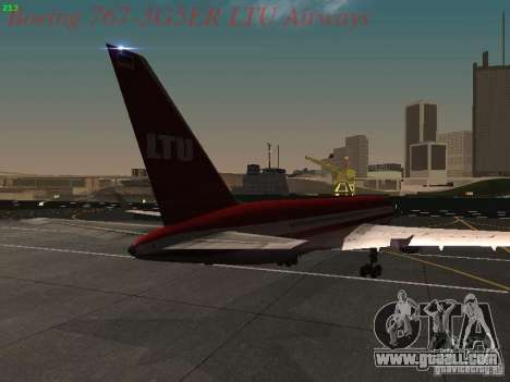 Boeing 767-3G5ER LTU Airways for GTA San Andreas right view