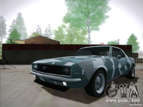 Chevrolet Camaro SS 1967 for GTA San Andreas inner view