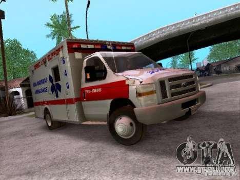 Ford E-350 Ambulance v2.0 for GTA San Andreas
