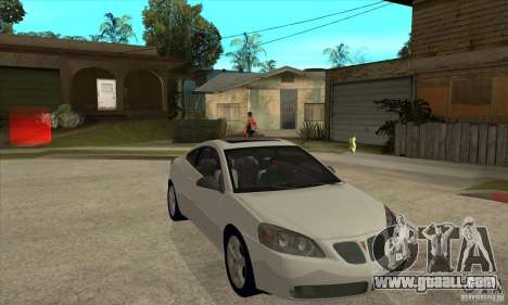 Pontiac G6 Stock Version for GTA San Andreas back view