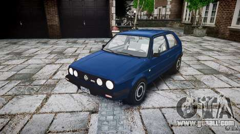 Volkswagen GOLF MK2 GTI for GTA 4 back view