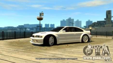BMW E46 M3 GTR Sport for GTA 4
