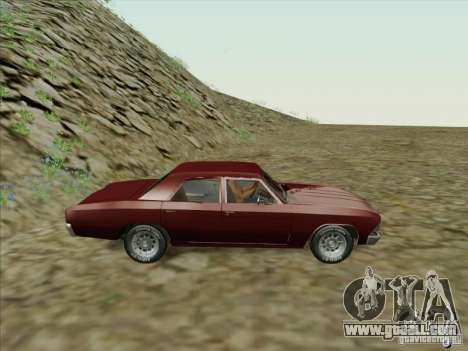 Chevrolet Chevelle for GTA San Andreas left view