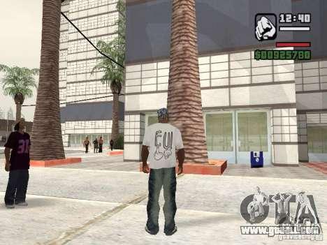 FUck T-shirt for GTA San Andreas second screenshot