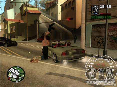 Spyder Cambriocorsa for GTA San Andreas back view