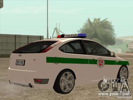 Ford Focus ST Policija for GTA San Andreas right view