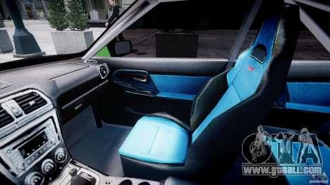 Subaru Impreza STI Wide Body for GTA 4 back view