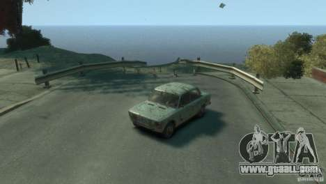 VAZ 2103-Rusty v1.0 for GTA 4 back view