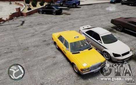 Mercedes-Benz 230 E Taxi for GTA 4 inner view