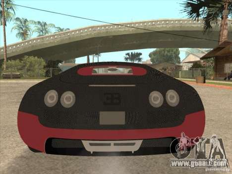 Bugatti Veyron Super Sport for GTA San Andreas interior