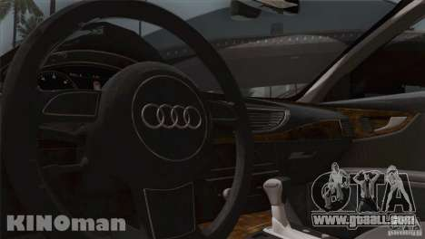 Audi A7 Sportback 2010 for GTA San Andreas inner view