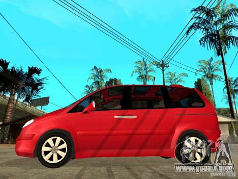 Citroen C8 for GTA San Andreas left view