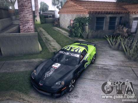 Chevrolet Corvette C6 Z06 Tuning for GTA San Andreas side view