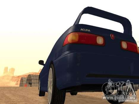 Acura RSX Light Tuning for GTA San Andreas back left view