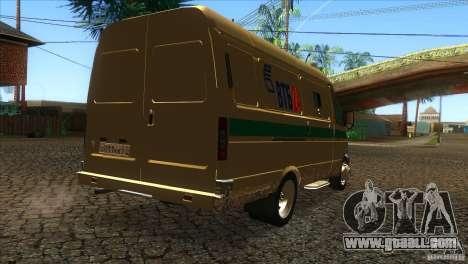 Gazelle 2705 transportation services for GTA San Andreas right view