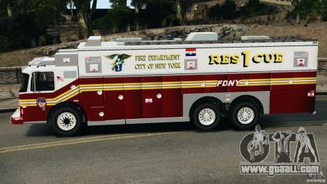 FDNY Rescue 1 [ELS] for GTA 4 left view
