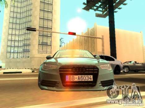 Audi A6 Stanced for GTA San Andreas back left view
