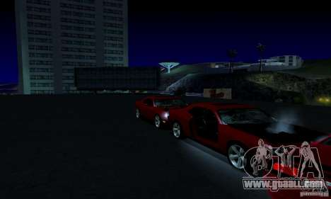 Dodge Challenger SRT8 2009 for GTA San Andreas bottom view