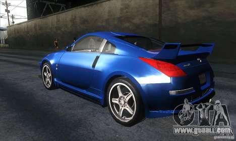 Nissan 350Z Varis for GTA San Andreas back left view