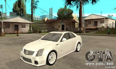 Cadillac CTS-V 2009 v2.0 for GTA San Andreas