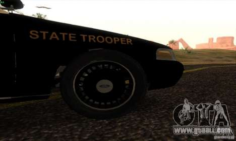 Ford Crown Victoria Florida Police for GTA San Andreas back left view