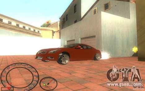 Infiniti G37 Vossen for GTA San Andreas back left view
