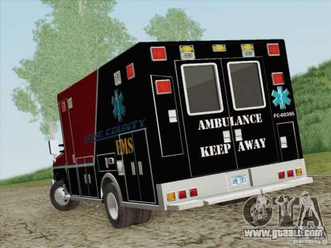 Ford E-350 AMR. Bone County Ambulance for GTA San Andreas back left view