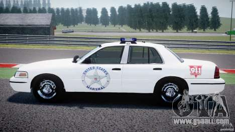 Ford Crown Victoria US Marshal for GTA 4 left view