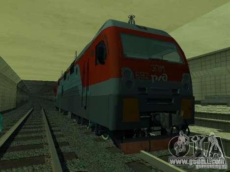 ÈP1M-392 OJSC «RUSSIAN RAILWAYS» for GTA San Andreas inner view