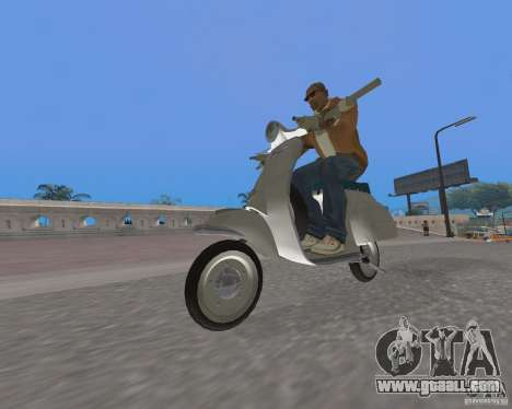 Vespa N-50 for GTA San Andreas back left view