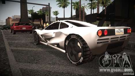 McLaren F1 LM for GTA San Andreas back left view