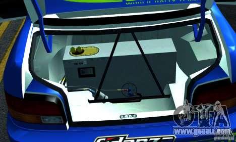 Subaru Impreza 1995 World Rally ChampionShip for GTA San Andreas side view