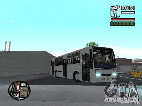 Busscar Urbanus SS Volvo B10M for GTA San Andreas inner view