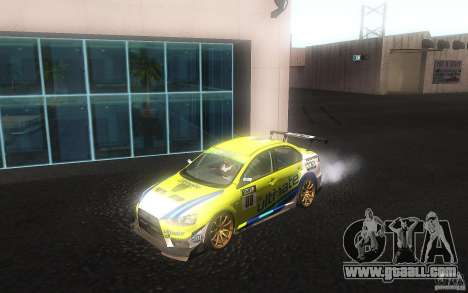 Mitsubishi Lancer Evolution X Gymkhana for GTA San Andreas left view